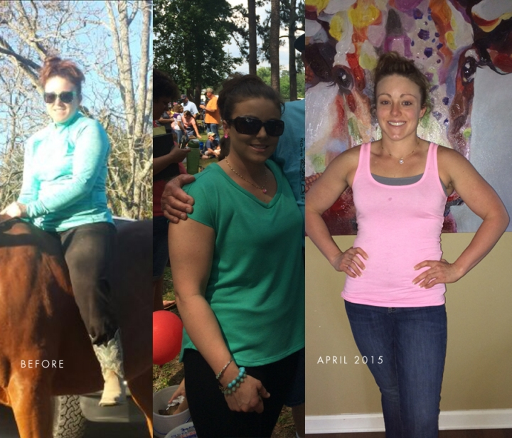 Laurin pictured here before she started Clean Kitchen, then 4 months into her new lifestyle!