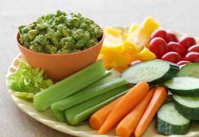 Pre-cut-Veggies-With-Guacamole